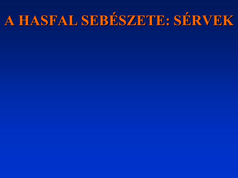 """A lágyéktáji és hasfali sérv """"par excellence sebészi betegség, gyógyításának sine qua non-ja a hasfal rekonstrukciója."""