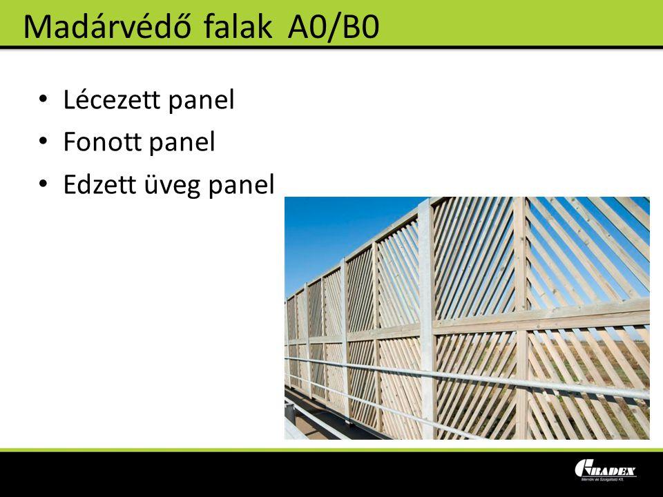 Lécezett panel Fonott panel Edzett üveg panel Madárvédő falakA0/B0