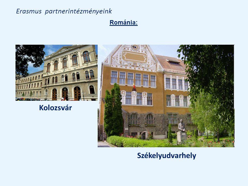 Erasmus partnerintézményeink Kolozsvár Székelyudvarhely Románia: