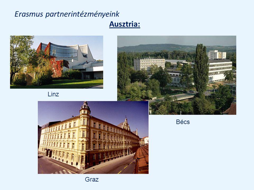 Erasmus partnerintézményeink Ausztria: Linz Bécs Graz