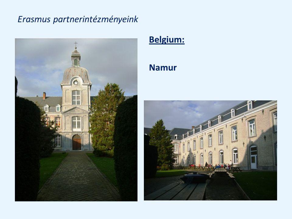 Erasmus partnerintézményeink Belgium: Namur