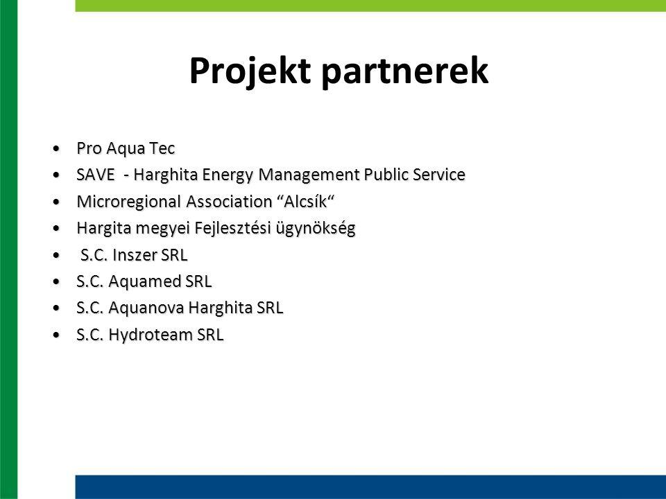 Projekt partnerek Pro Aqua TecPro Aqua Tec SAVE - Harghita Energy Management Public ServiceSAVE - Harghita Energy Management Public Service Microregio