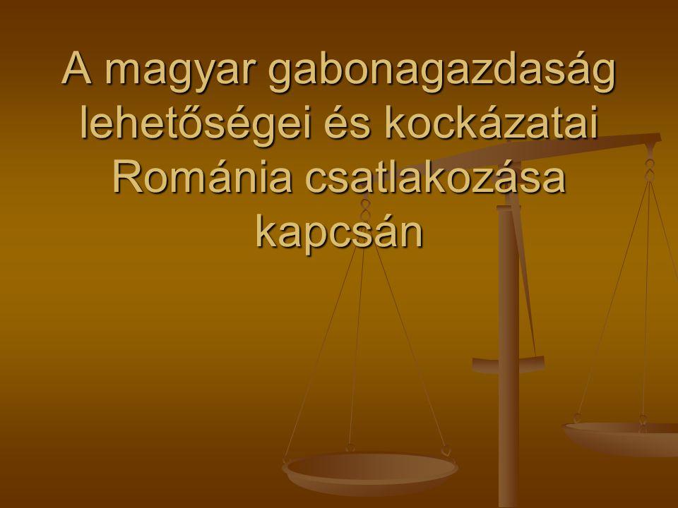 A magyar gabonagazdaság lehetőségei és kockázatai Románia csatlakozása kapcsán