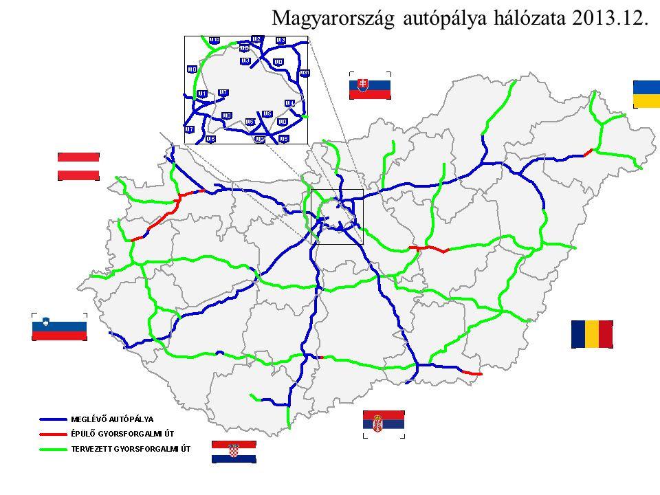 Magyarország autópálya hálózata 2013.12.