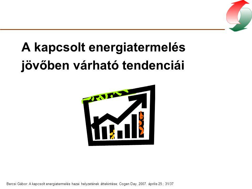 Bercsi Gábor: A kapcsolt energiatermelés hazai helyzetének áttekintése; Cogen Day, 2007.
