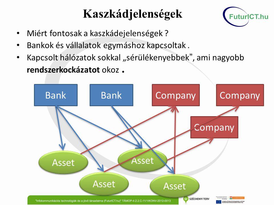 """Bank Company Asset Miért fontosak a kaszkádejelenségek ? Bankok és vállalatok egymáshoz kapcsoltak. Kapcsolt hálózatok sokkal """"sérülékenyebbek """", ami"""