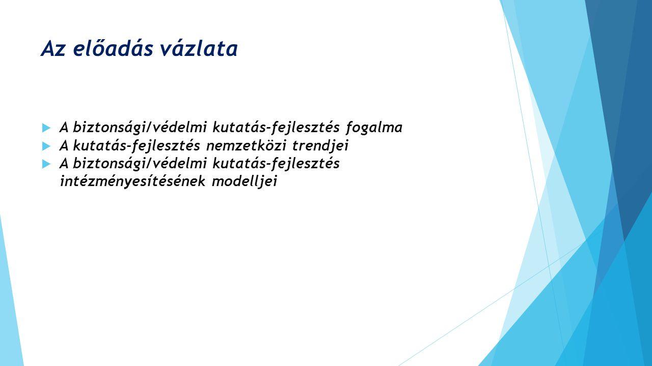 A biztonsági/védelmi kutatás-fejlesztés intézményesítésének modelljei 3.