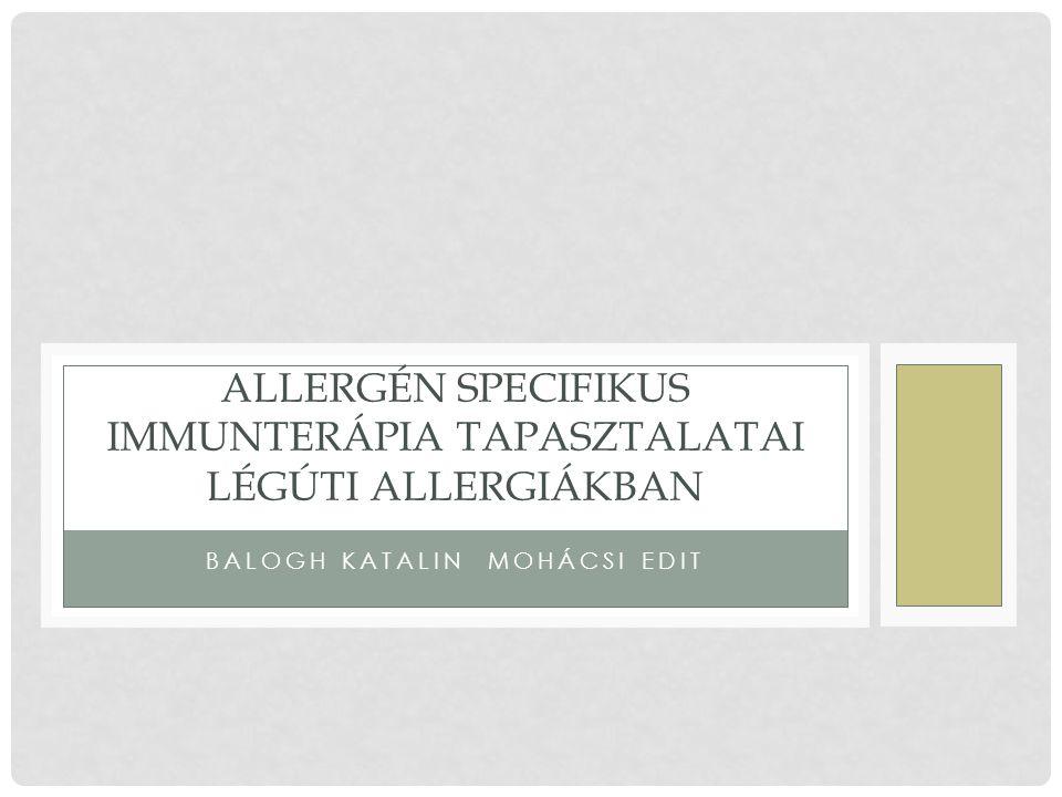 AIT HATÉKONYSÁGA HOSSZÚ TÁVON Di Rienzo V, Marcucci F, Puccinelli P, Parmiani S, Frati f, Sensi L, Canonica G,Passalacqua G : Long-lasting effect of sublingual immunotherapy in children with asthma due to house dust mite: A ten-year prospective study.