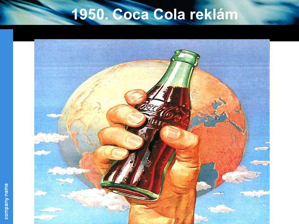 company name 34 1950. Coca Cola reklám