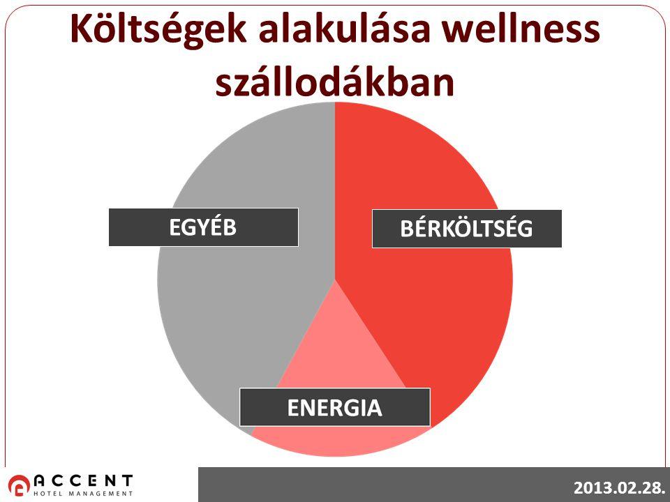 Költségek alakulása wellness szállodákban BÉRKÖLTSÉG EGYÉB 2013.02.28.