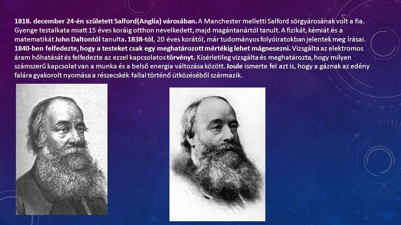 1842-től 1878-ig azt vizsgálta, hogy lehetséges-e mechanikai energiát közvetlenül hőenergiává alakítani bármilyen elektromos lépés nélkül.
