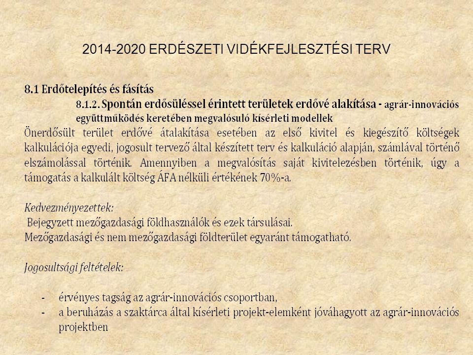 2014-2020 ERDÉSZETI VIDÉKFEJLESZTÉSI TERV