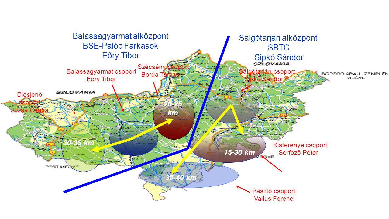 Bozsik Utánpótlás Labdarúgó Képzési és Fejlesztési Terv – Nógrád megyei szerkezet – Tervezet 2014/2015. KÖRZETEK ÉS ALKÖZPONTVEZETŐK Salgótarján alköz