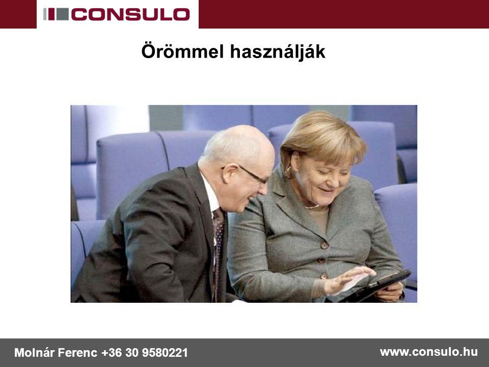 www.consulo.hu Molnár Ferenc +36 30 9580221 Örömmel használják