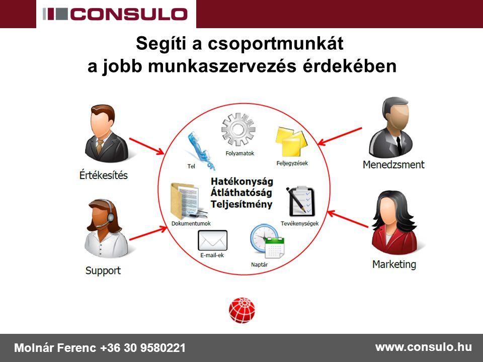www.consulo.hu Molnár Ferenc +36 30 9580221 Támogatja az úton lévőket