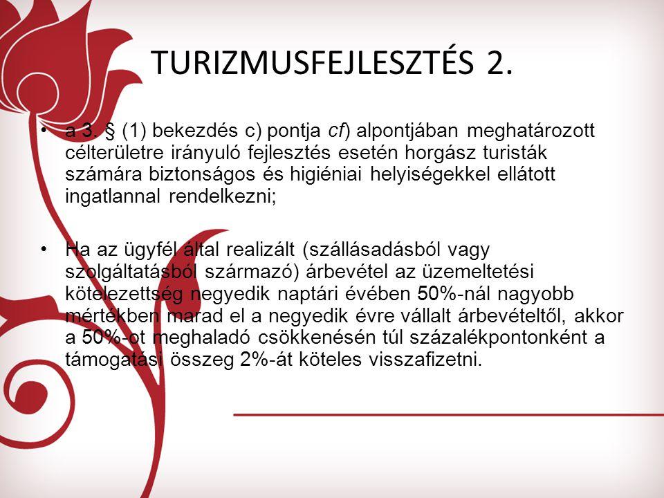 TURIZMUSFEJLESZTÉS 2. a 3.