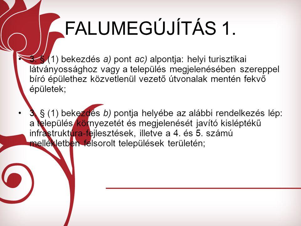 FALUMEGÚJÍTÁS 1. 3.