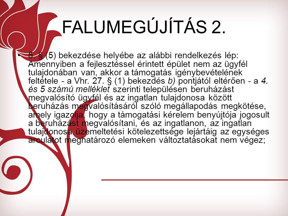 FALUMEGÚJÍTÁS 2. 5.