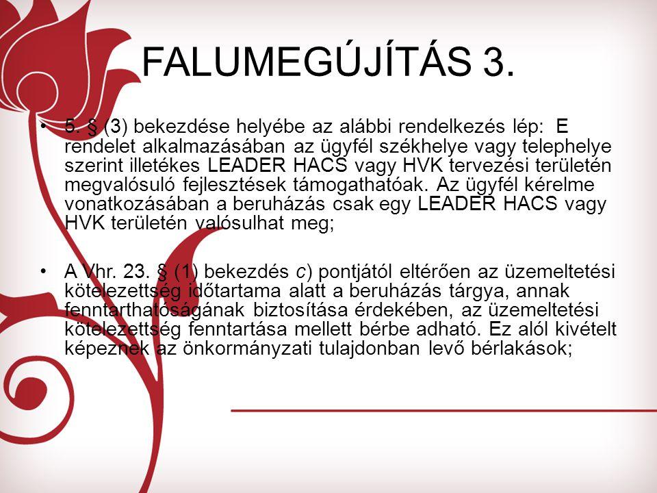 FALUMEGÚJÍTÁS 3. 5.