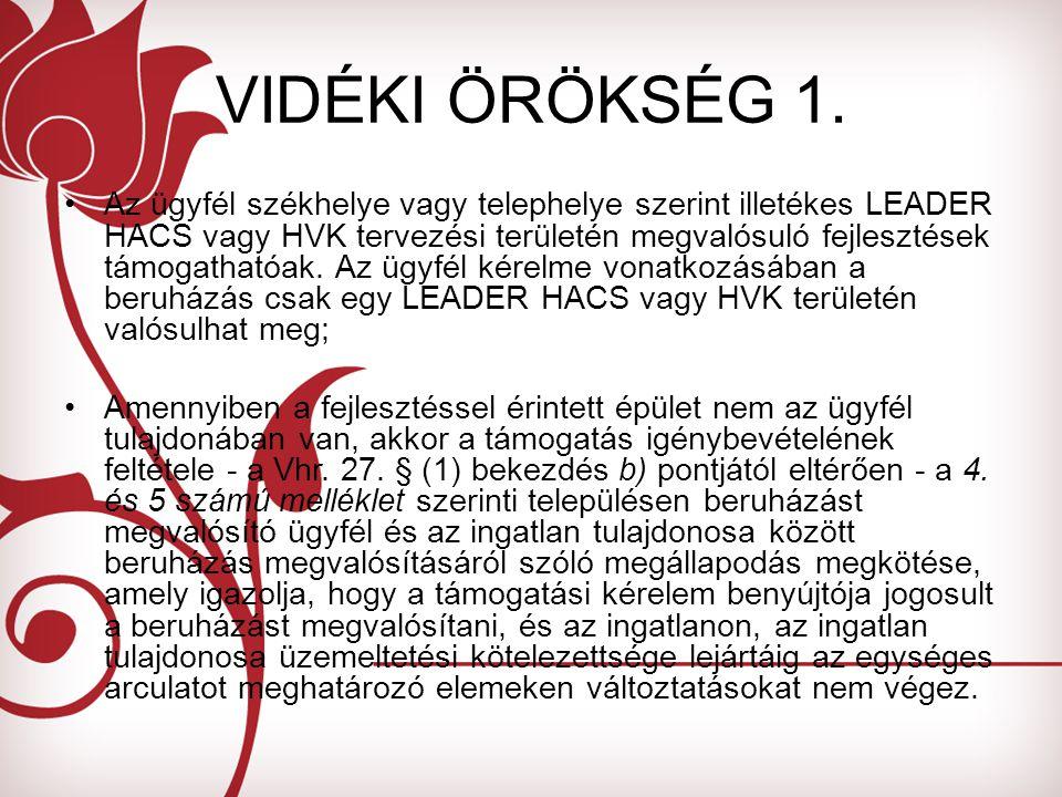 VIDÉKI ÖRÖKSÉG 1.