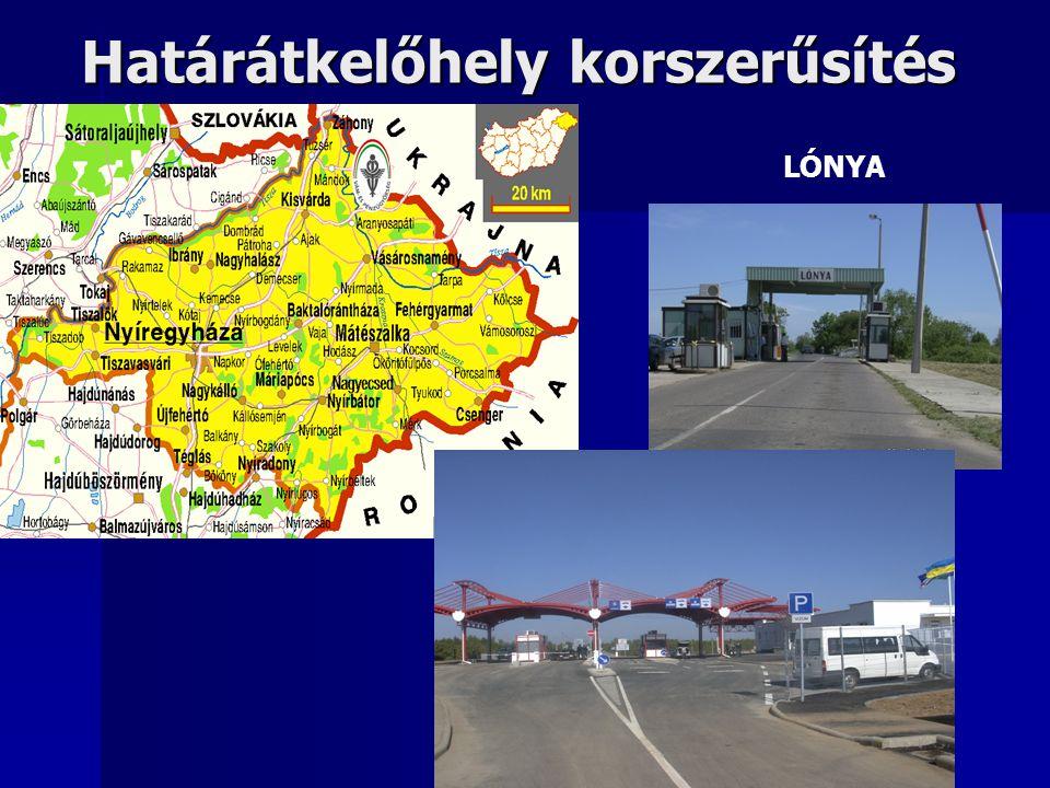 Határátkelőhely korszerűsítés LÓNYA