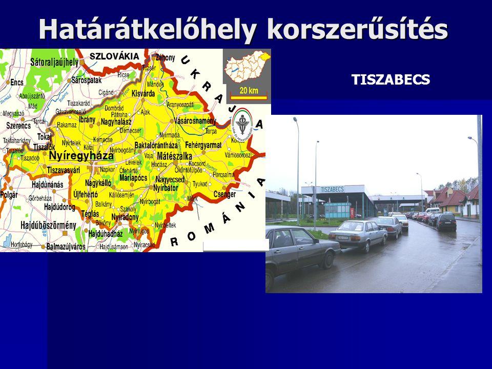 Határátkelőhely korszerűsítés TISZABECS