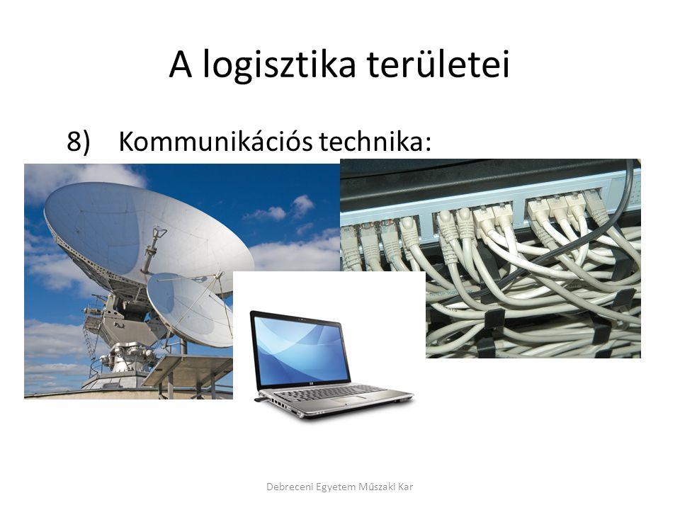 A logisztika területei 8) Kommunikációs technika: Debreceni Egyetem Műszaki Kar
