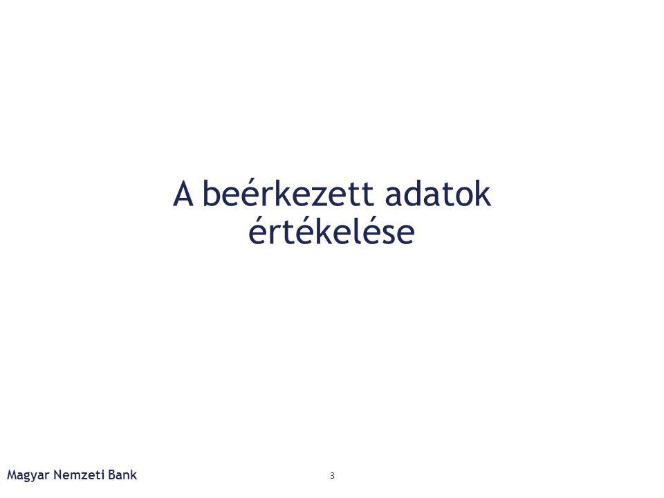 Háztartások: folytatódó adósságleépítés 24 Forrás: Endrész et al (MNB Tanulmány, kézirat 2014) Hitelezési rés = [(megfigyelt hitel állomány) – (egyensúlyi lakossági hitel állomány)]/egyensúlyi lakossági hitel állomány Magyar Nemzeti Bank