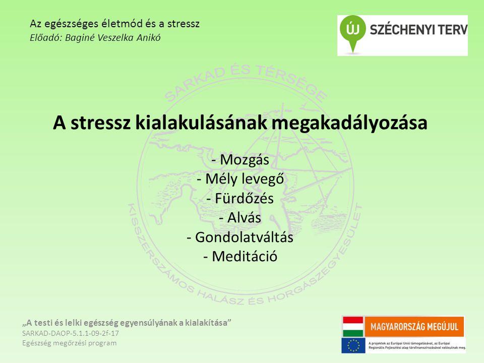 """A stressz kialakulásának megakadályozása - Mozgás - Mély levegő - Fürdőzés - Alvás - Gondolatváltás - Meditáció """"A testi és lelki egészség egyensúlyán"""