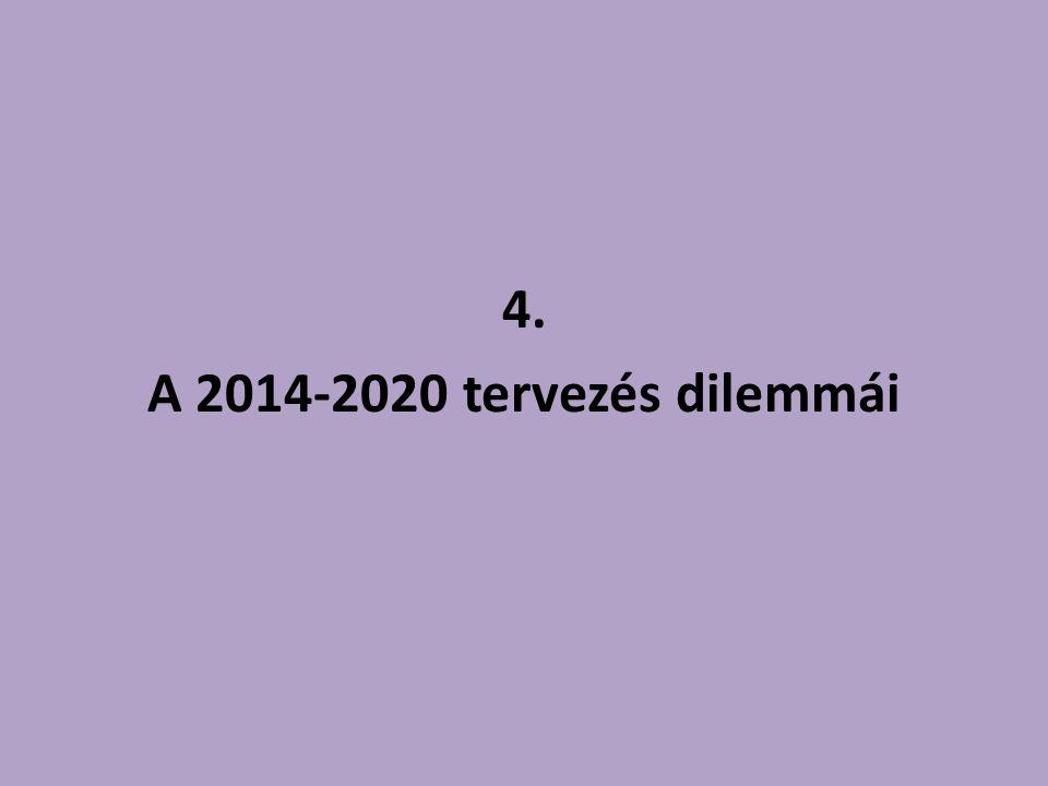 4. A 2014-2020 tervezés dilemmái