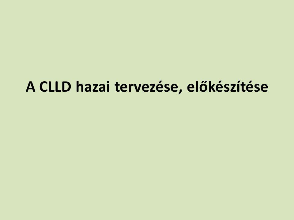A CLLD hazai tervezése, előkészítése