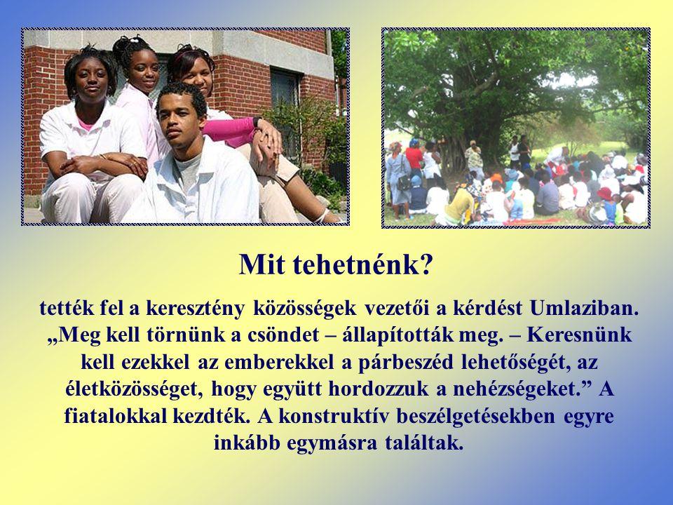tették fel a keresztény közösségek vezetői a kérdést Umlaziban.