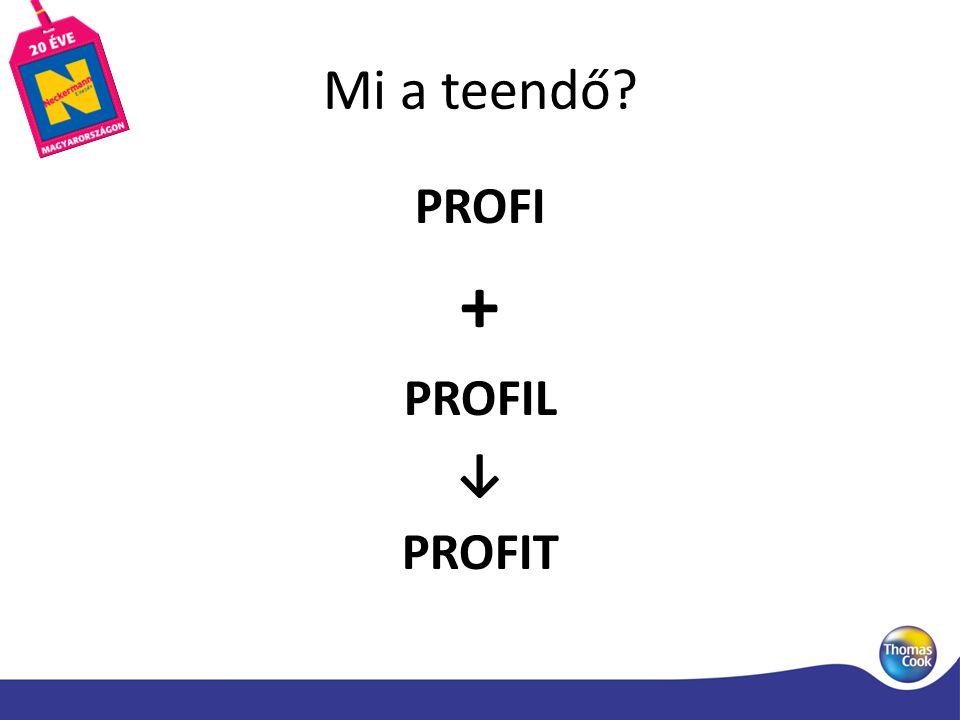 Mi a teendő PROFI + PROFIL ↓ PROFIT