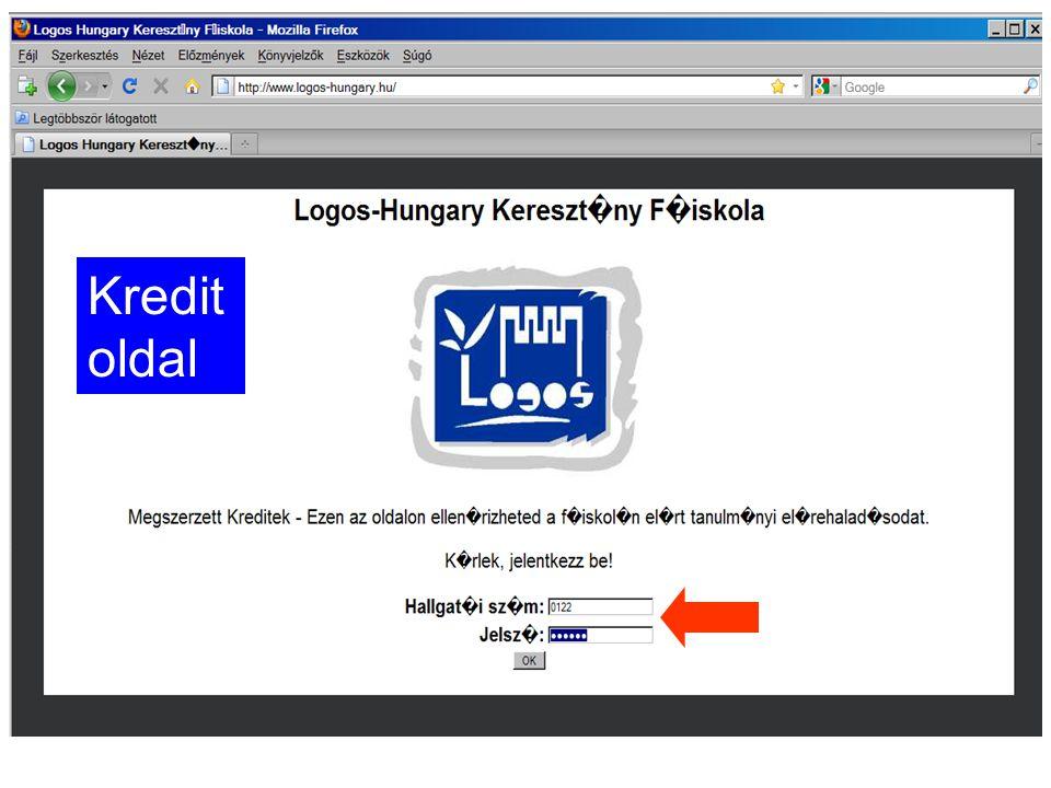 Kredit oldal