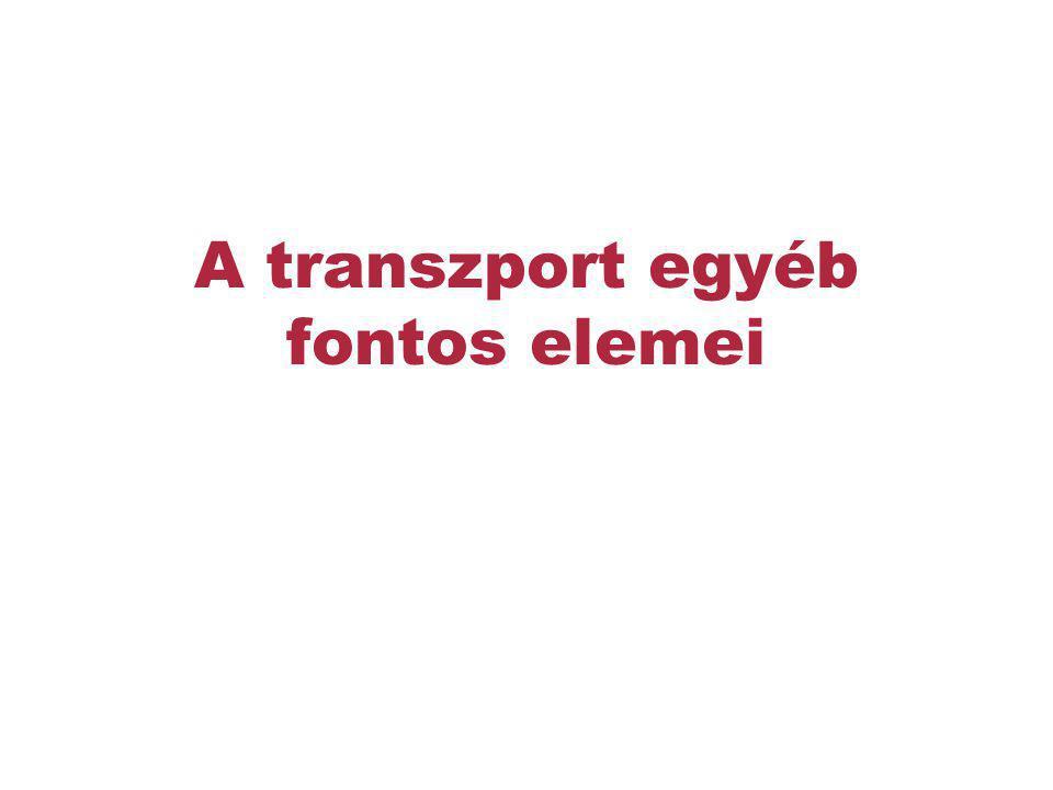 A transzport egyéb fontos elemei