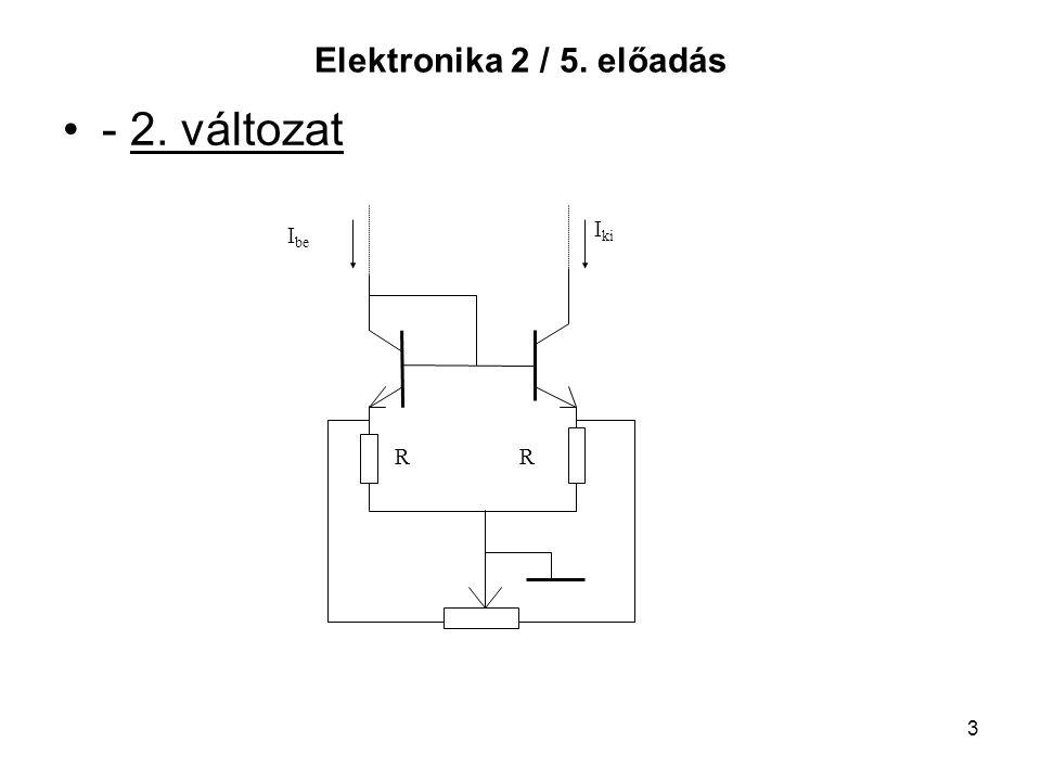 3 Elektronika 2 / 5. előadás - 2. változat I be I ki RR