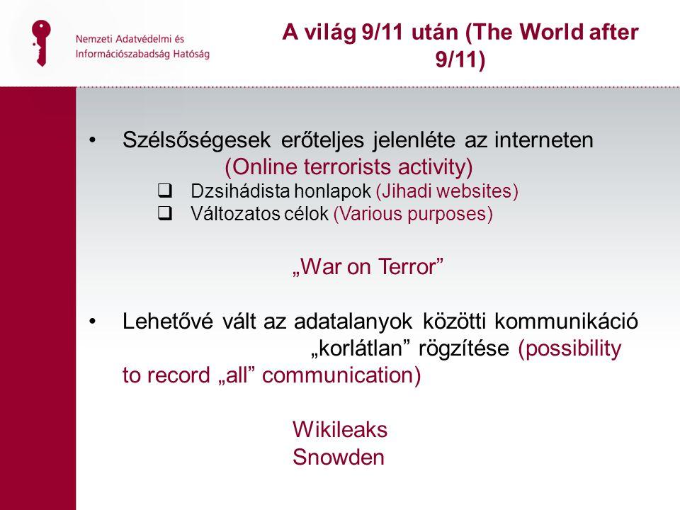 Szélsőségesek erőteljes jelenléte az interneten (Online terrorists activity)  Dzsihádista honlapok (Jihadi websites)  Változatos célok (Various purp