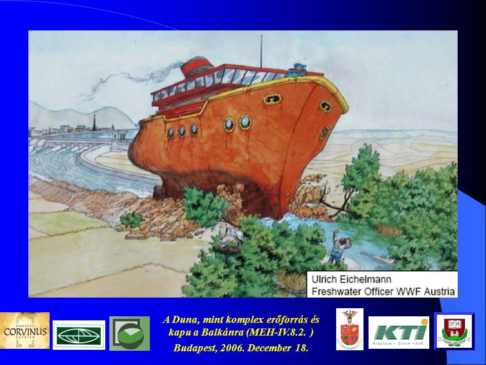 A Duna, mint komplex erőforrás és kapu a Balkánra (MEH-IV.8.2. ) Budapest, 2006. December 18. A téma aktualitása (2) A logisztikai hídfőállás szerepér
