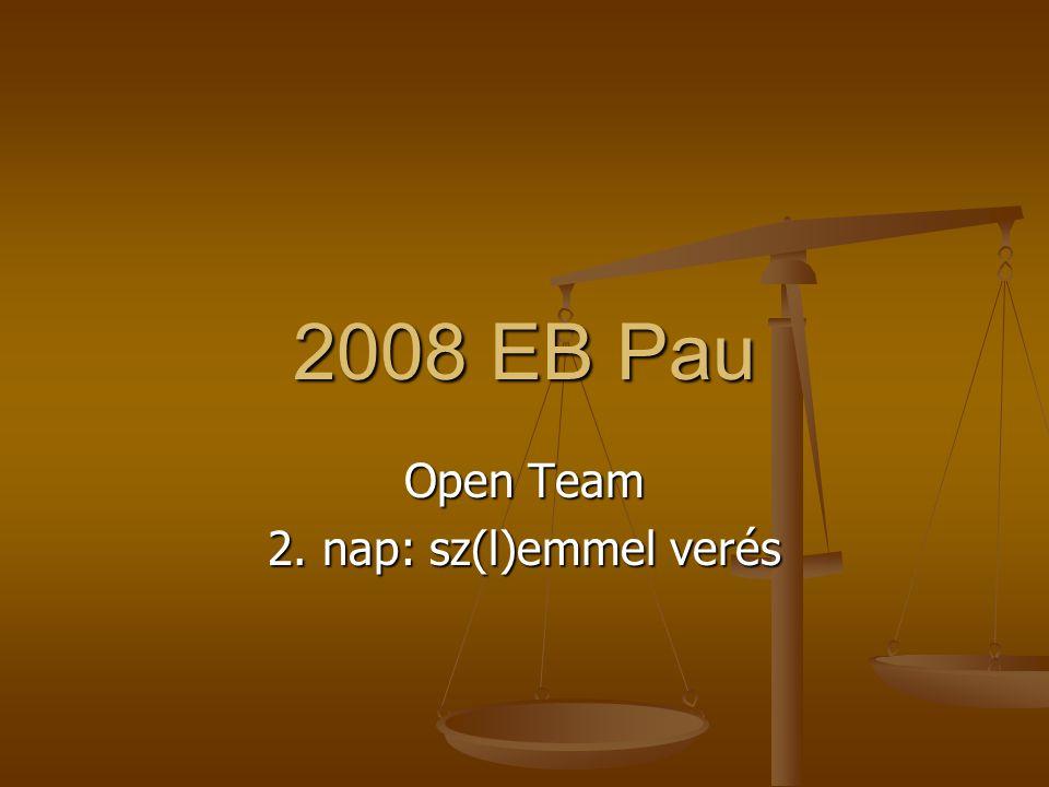 2008 EB Pau Open Team 2. nap: sz(l)emmel verés