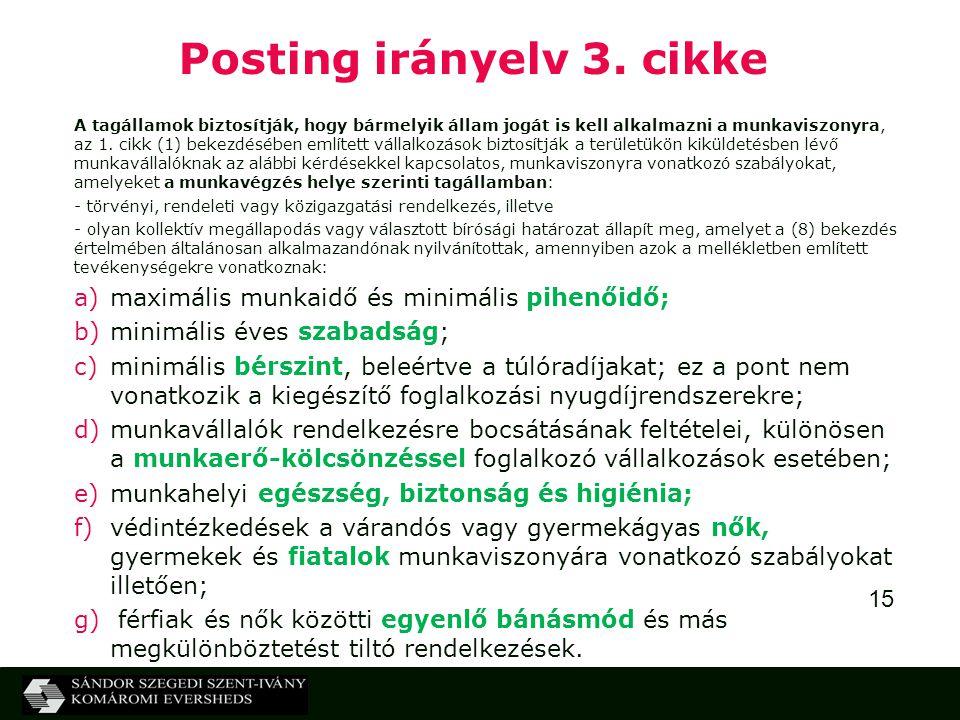 15 Posting irányelv 3.
