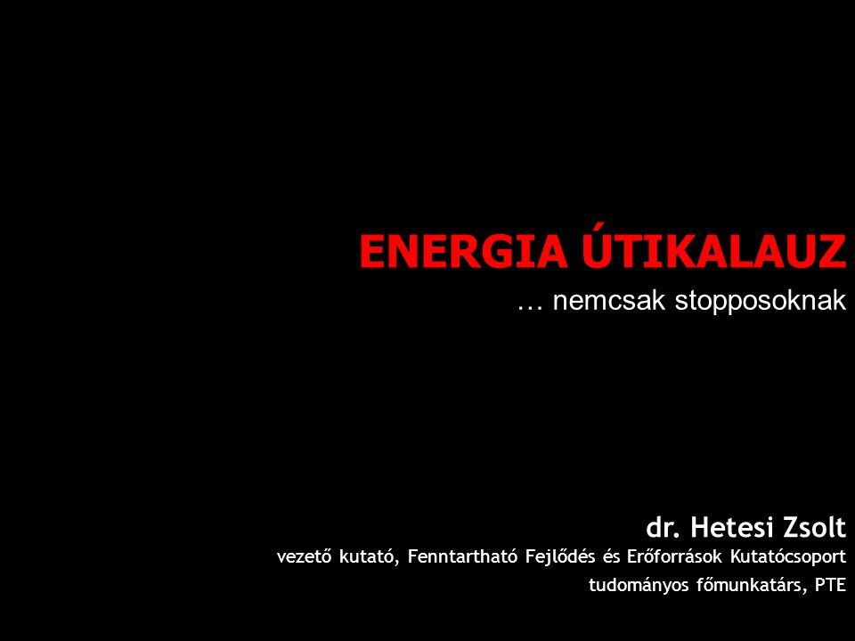 ENERGIA ÚTIKALAUZ dr.