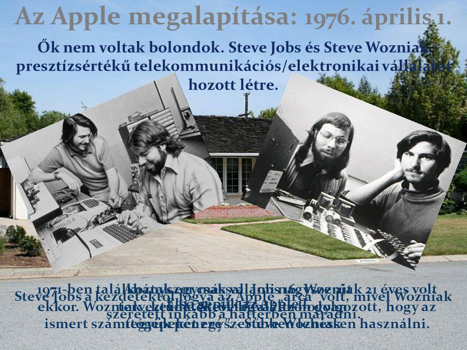 Az Apple megalapítása: 1976. április 1. Ők nem voltak bolondok.