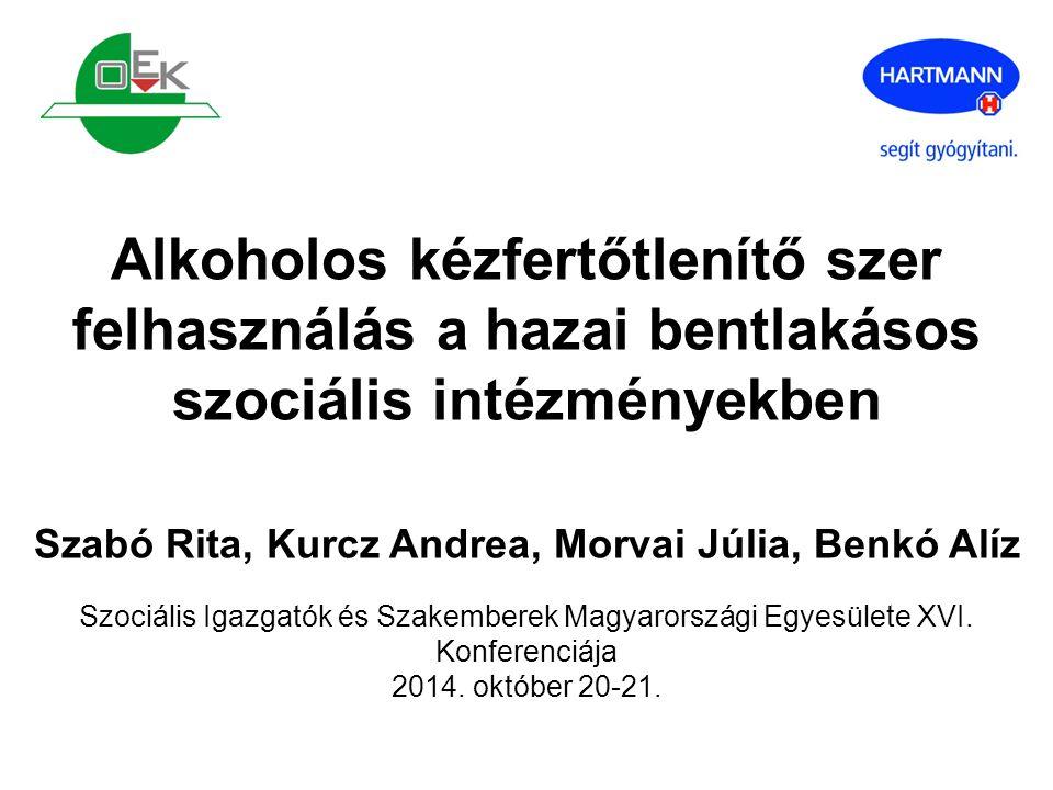 ÖSSZEFOGLALÁS Válaszadási arány: 25% Főbb problémák: Termékhasználat: alkoholos kézfert.