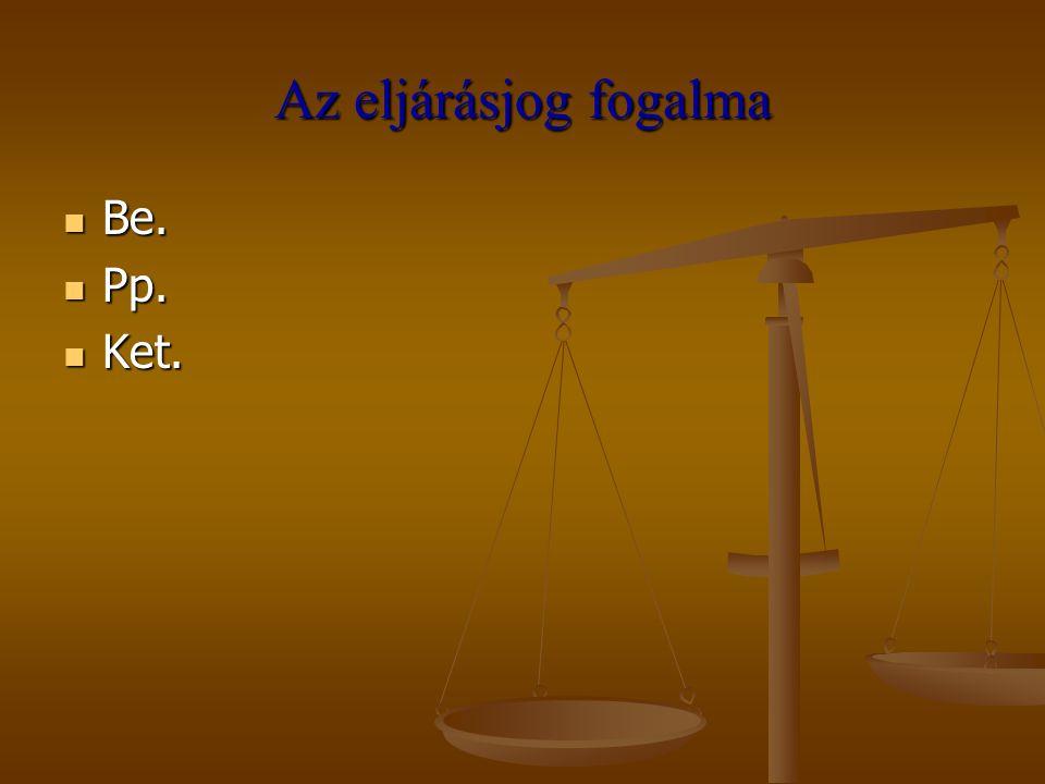 Elsőfokú eljárás Eljárás megindítása Eljárás megindítása Eljárás felfüggesztése Eljárás felfüggesztése Eljárás megszüntetése Eljárás megszüntetése