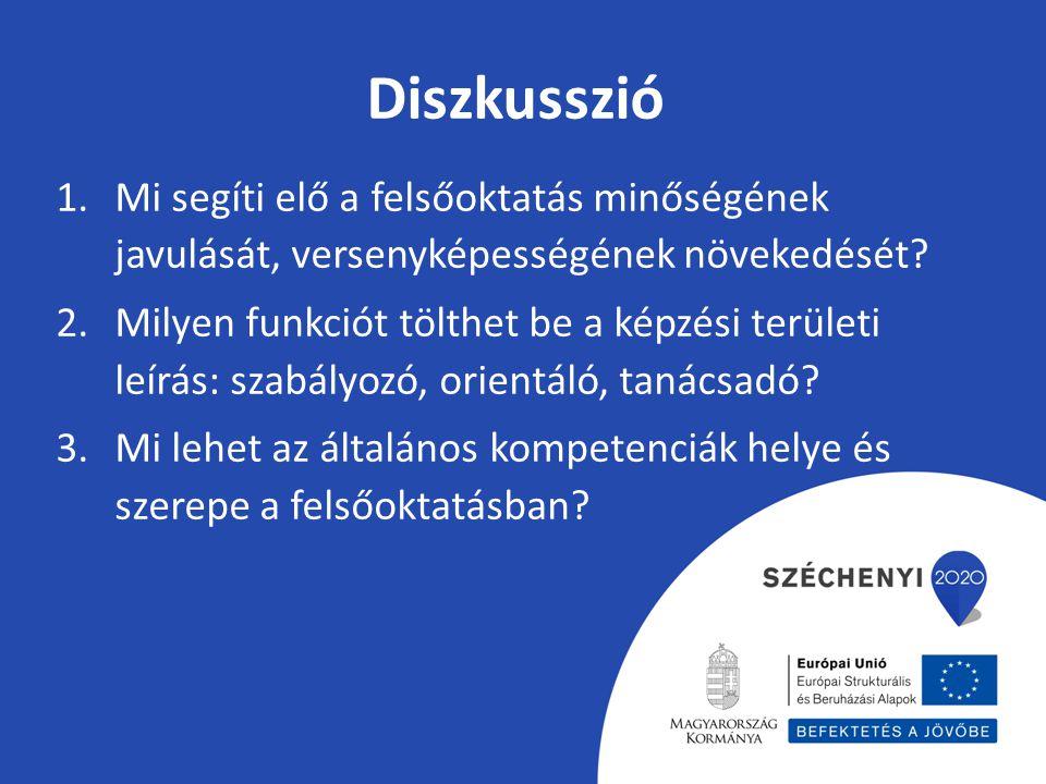 Diszkusszió 1.Mi segíti elő a felsőoktatás minőségének javulását, versenyképességének növekedését.