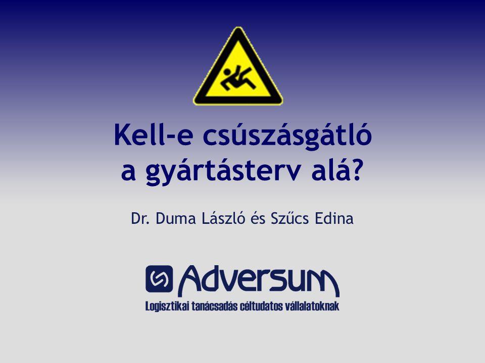Kell-e csúszásgátló a gyártásterv alá Dr. Duma László és Szűcs Edina