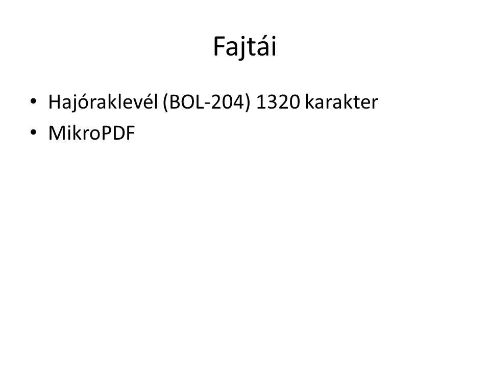 Fajtái Hajóraklevél (BOL-204) 1320 karakter MikroPDF