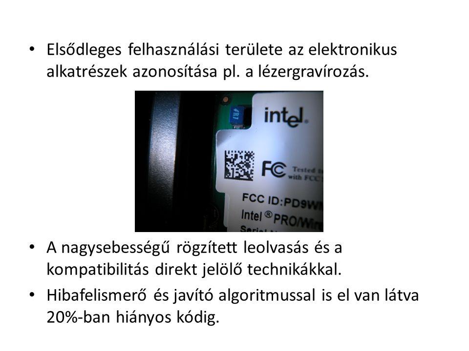 Elsődleges felhasználási területe az elektronikus alkatrészek azonosítása pl.
