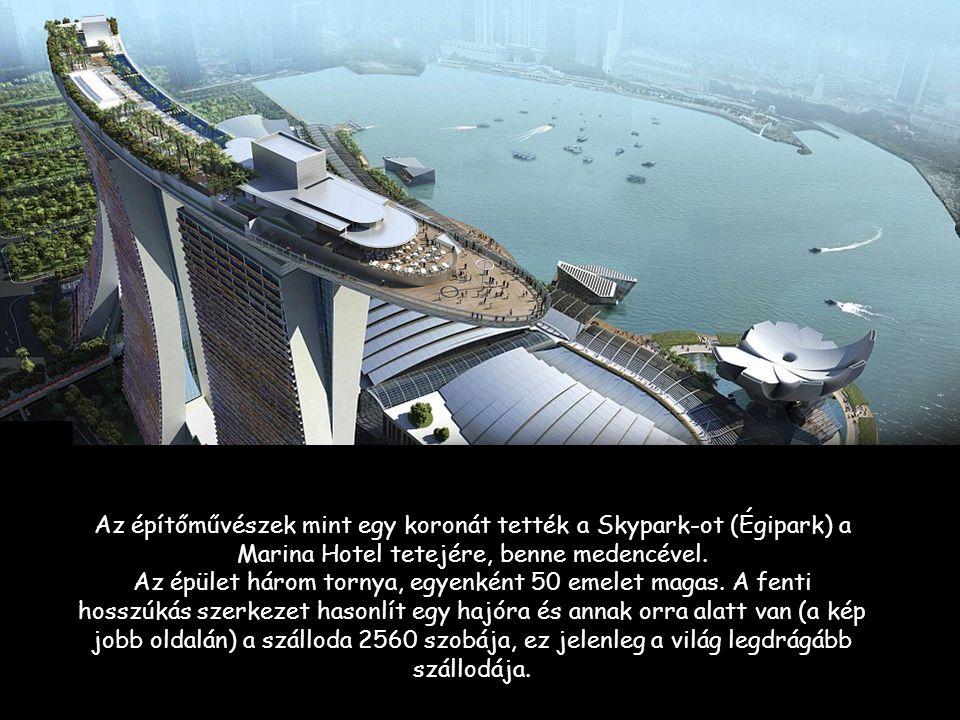 """Szingapur szabadidő komplexuma a homokos öbölben és a jachtkikötő. Bevásárlóközpont, kaszinó, szálloda és egy tetőtéri kert: új """"szín"""" a városban Szin"""