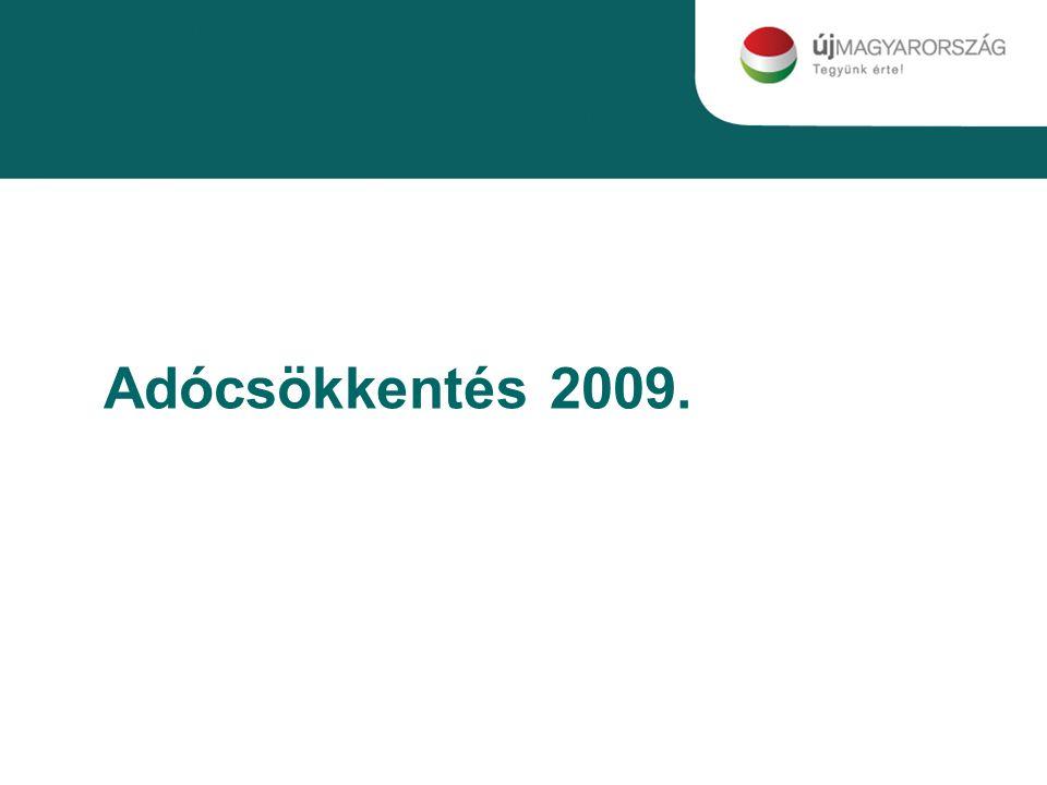 Adócsökkentés 2009.